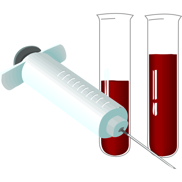 Vector image of syringe and tubes