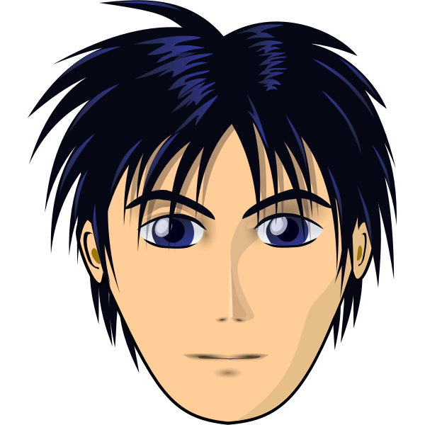 Male character in anime style