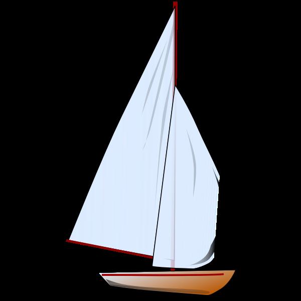 Comic sailboat