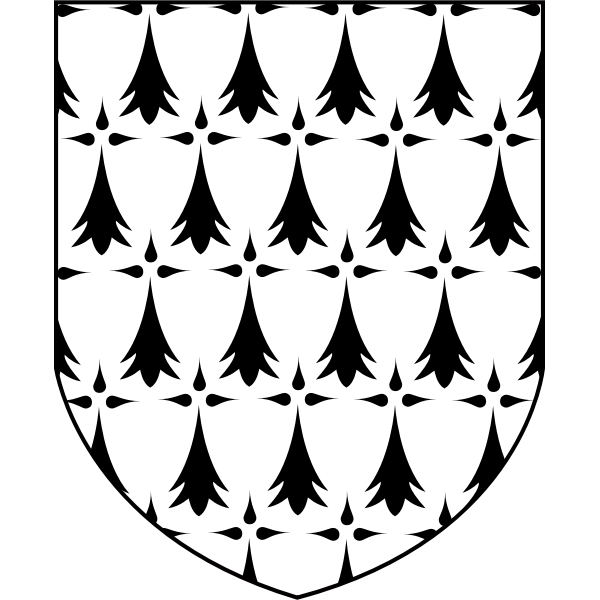 Vector image of coat of arms of Brittany