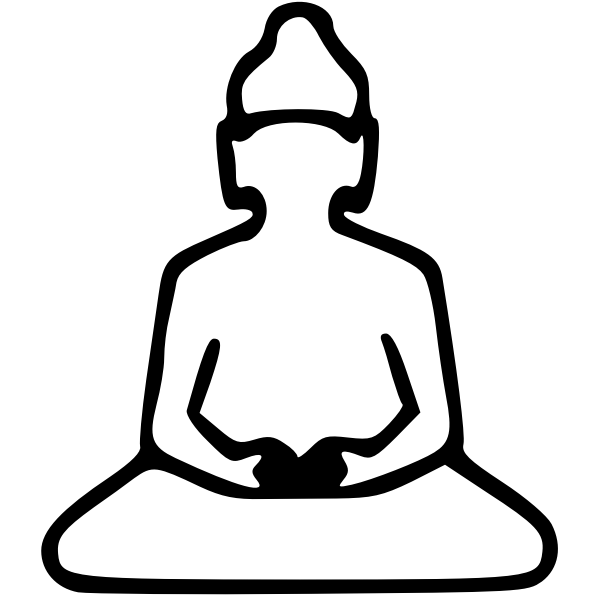 Buddha outline illustration
