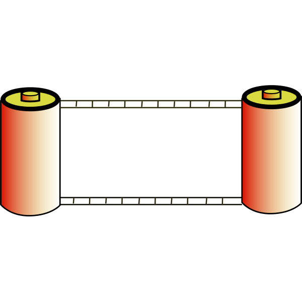 Vector illustration of color photo film rolls