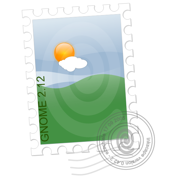 Vector drawing of postal stamp template