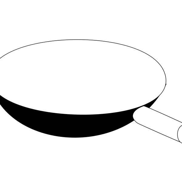 Frying pan outline