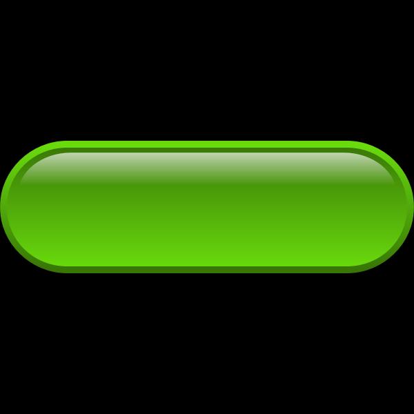 Pill shaped bright green button vector illustration