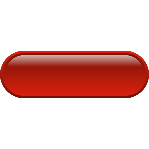 Pill shaped red button vector drawing
