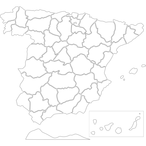 Provinces of Spain vector drawing