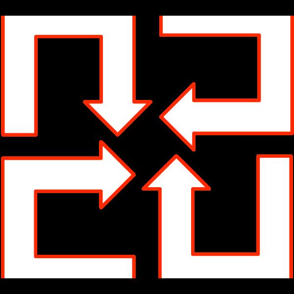 U-shaped arrow set 01