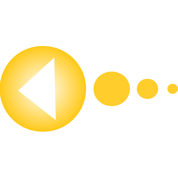Yellow circles with arrow