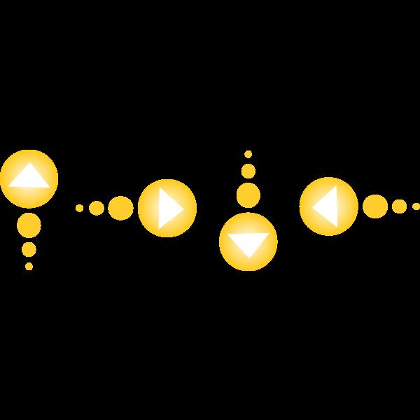 Yellow arrow set