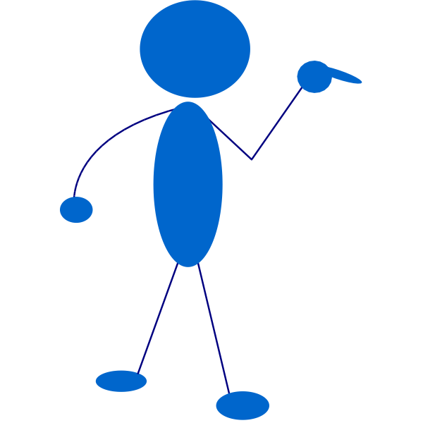 Cartoon stick figure