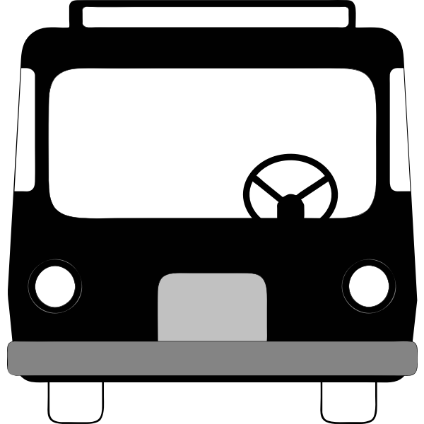 Front view of city public transport vehicle vector illustration