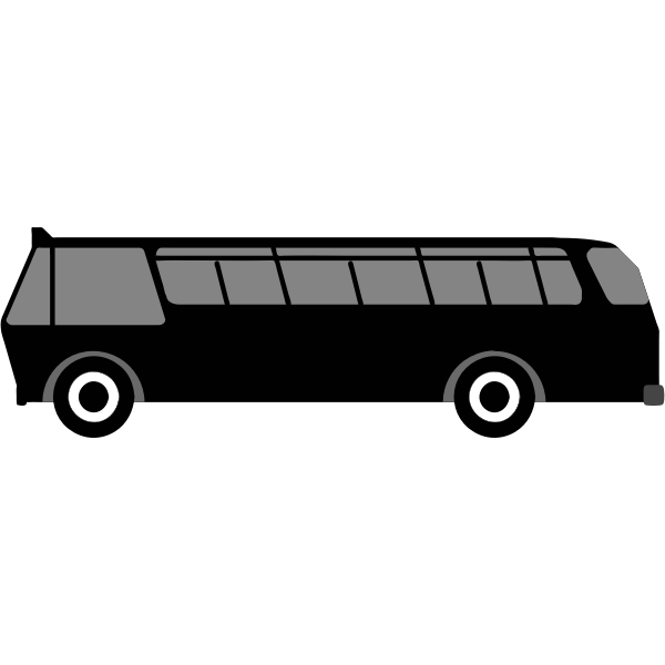 Side view of public transport vehicle image