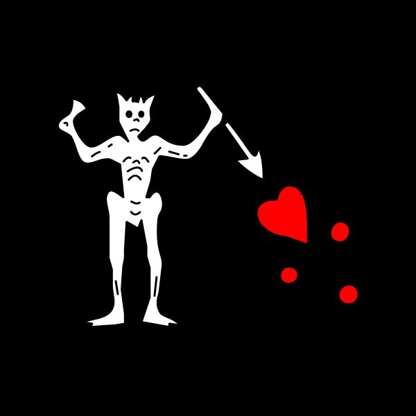 Pirate flag of Blackbeard Edward Teach