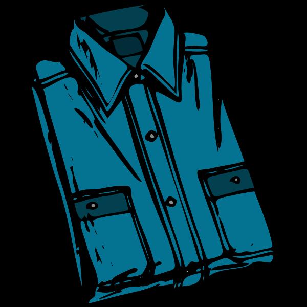 Blue folded shirt vector image