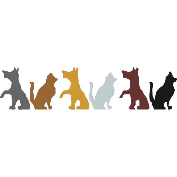 Dogs ad cats silhouette images