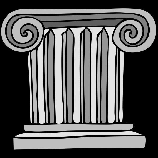Vector image of column pillar