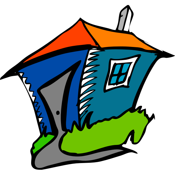 Cartoon vector graphics of a house