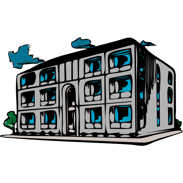 Vector image of condo building