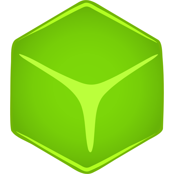 Green cube vector illustration