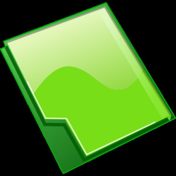 Closed green folder vector clip art