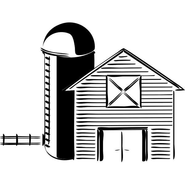 Small farm vector drawing