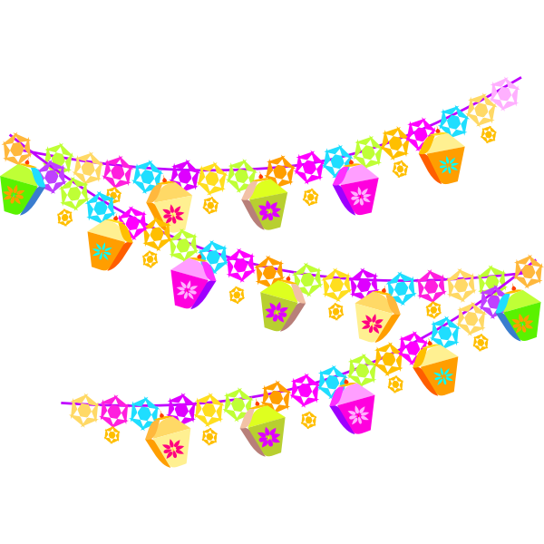 Festive decoration vector image