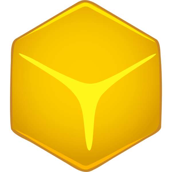 Vector image of cube