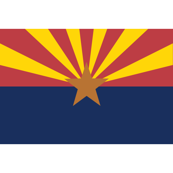 Arizona vector flag