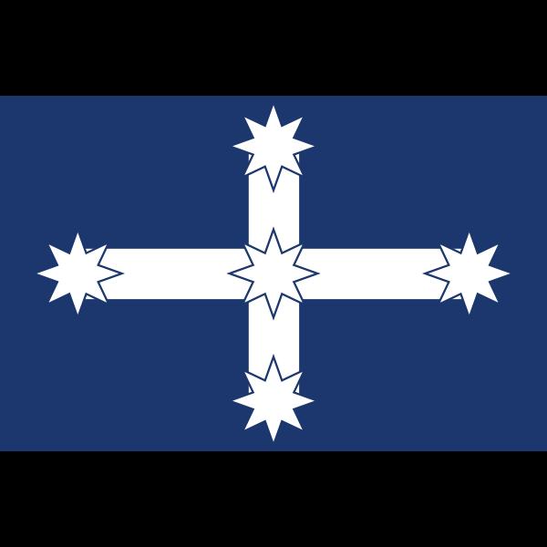 Eureka Flag vector clip art