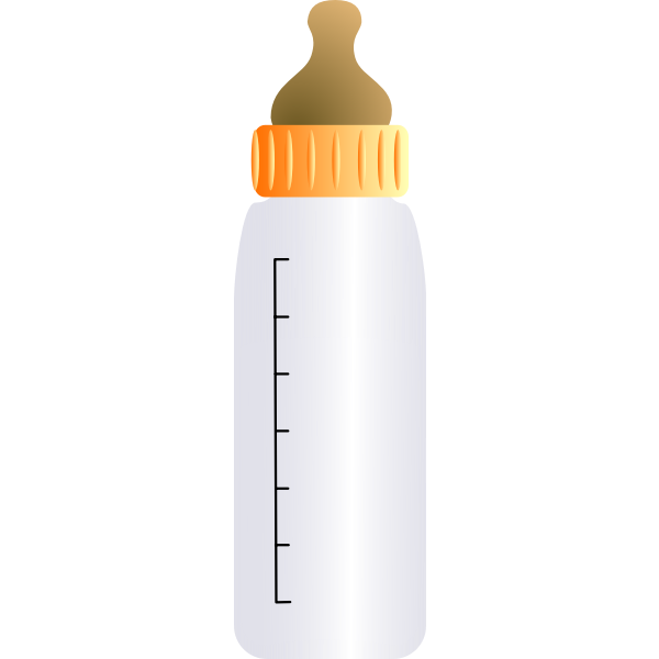 Vector graphics of baby bottle