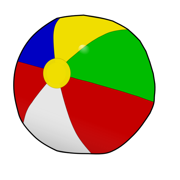 Vector drawing of beach ball