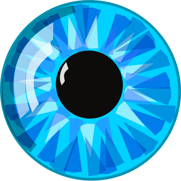 Vector image of crystal blue eye