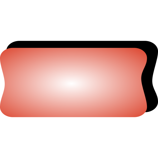 Vector image of red computer button