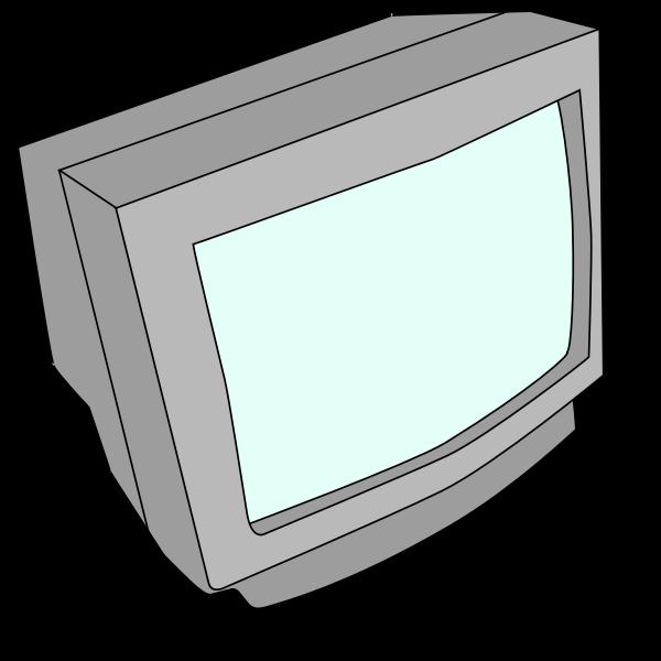 Vector graphics CRT computer monitor