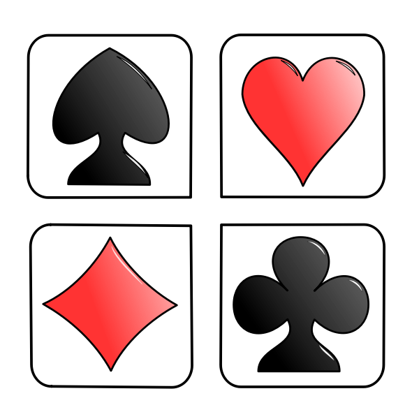 Playing cards signs vector image