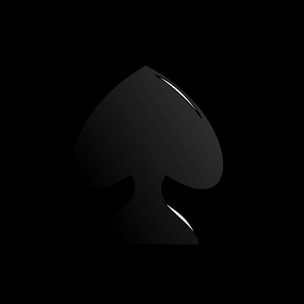 Playing card spade vector sign