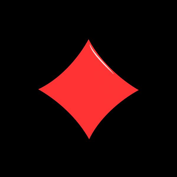 Playing card diamonds vector sign