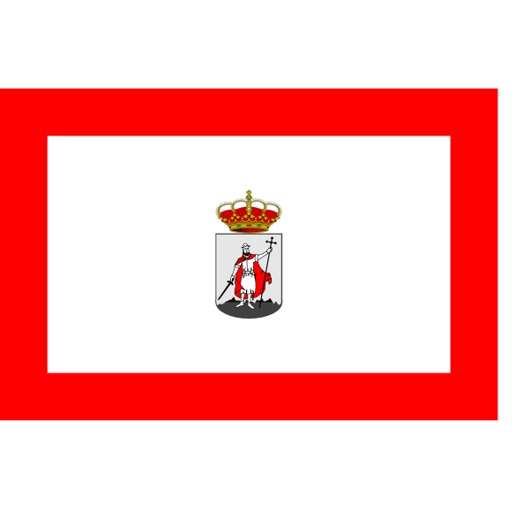 City flag of Gijon vector illustration