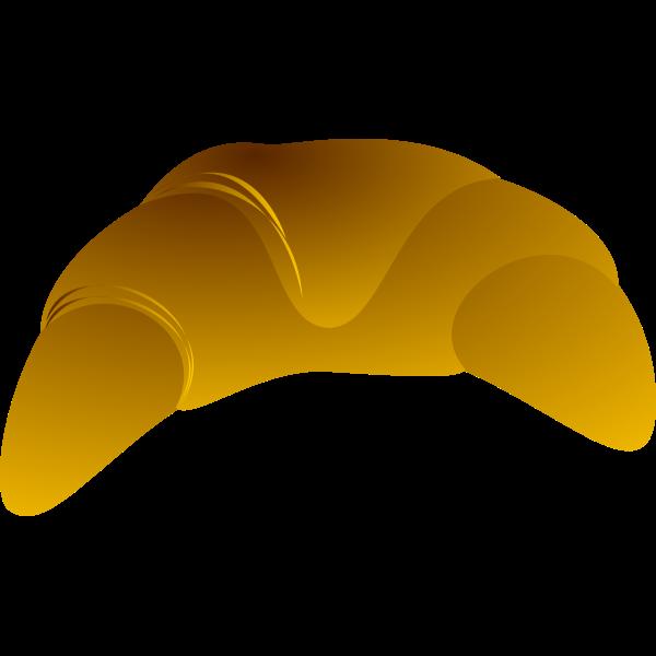 Croissant vector clip art