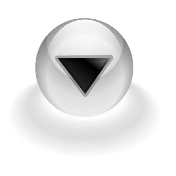 Down computer button vector illustration
