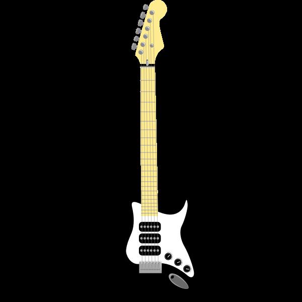 Black guitar vector illustration