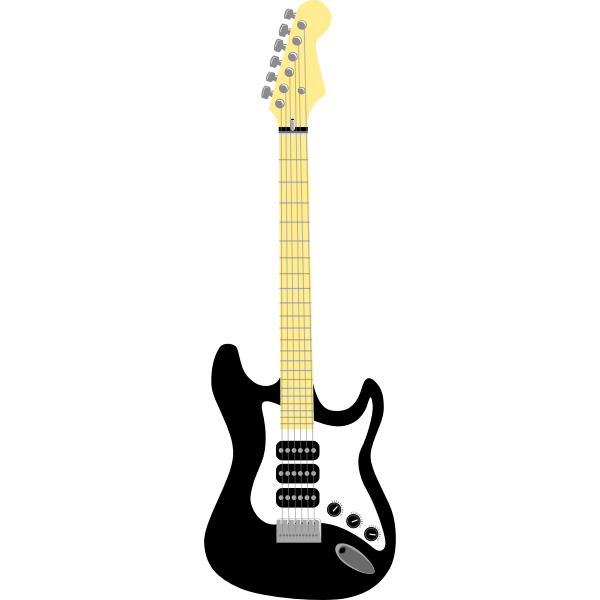 Black guitar vector illustration