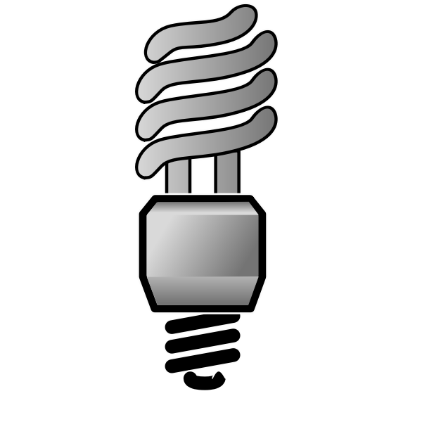 Energy saver lightbulb OFF vector image