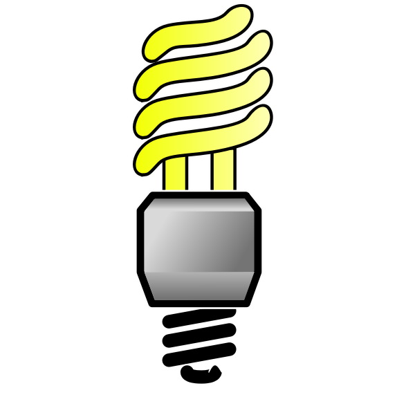 Energy saver lightbulb ON vector image