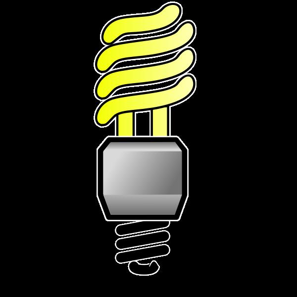 Energy saver lightbulb ON vector image