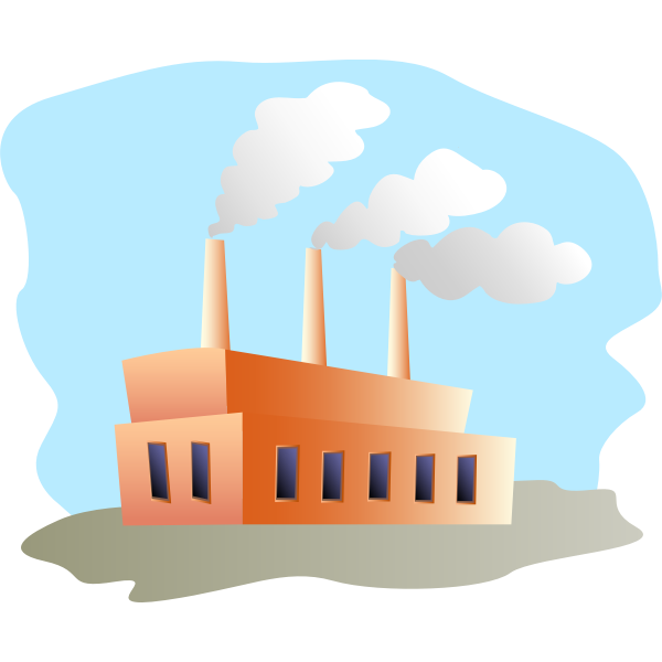 Vector illustration of factory