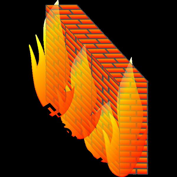 Color firewall vector illustration