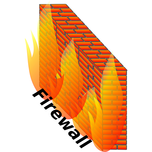 Color firewall vector illustration