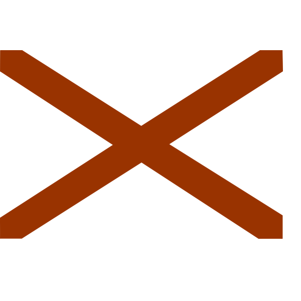 Vector clip art flag of Alabama